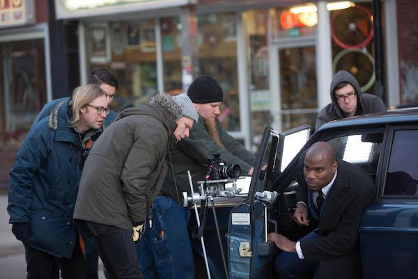 Chris Hershman filming on location