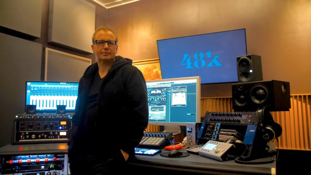 Thomas Berlin at his digital audio workstation