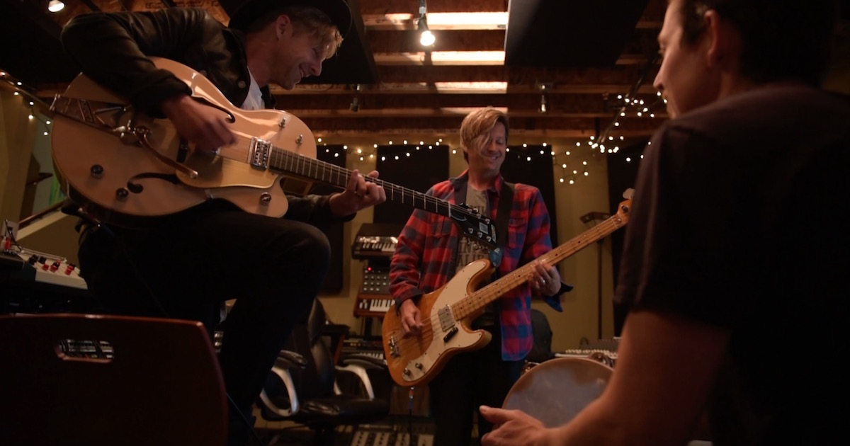 Switchfoot songwriting in their studio