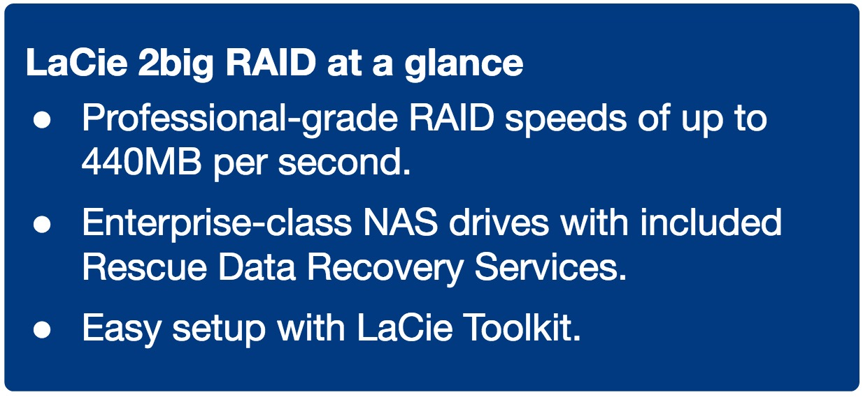 LaCie 2big RAID at a glance - LaCie