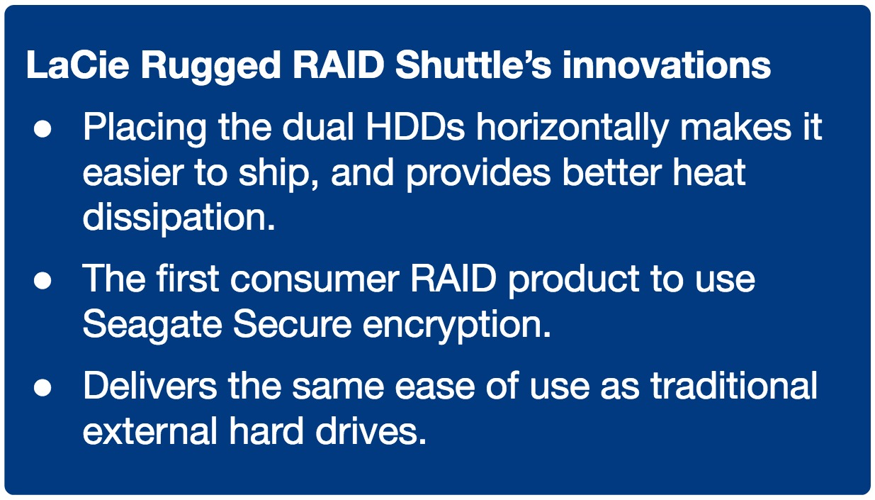 LaCie Rugged RAID Shuttle's innovations - LaCie